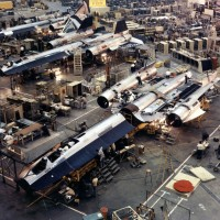 Assembly line of the SR 71 Blackbird at Skunk Works 200x200 UFO inspired Black Projects Gallery 1