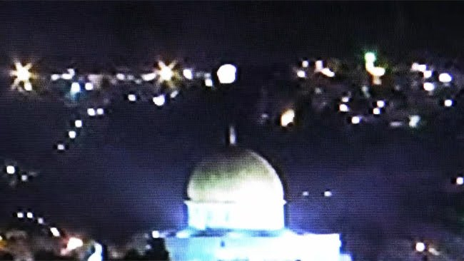 Dome of the rock UFO - Lightbody Merkabah Chariots of Fire - Consciousness Being of Light - January 28, 2011