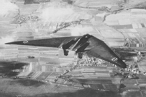 The Horten H.IX, RLM designation Ho 229 (often called Gotha Go 229) Horton Flying Wing WWII