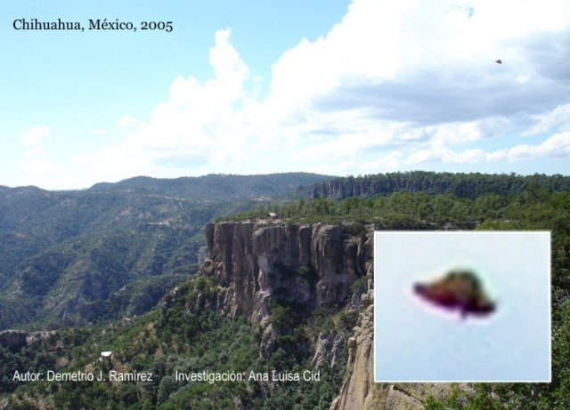 Flying Saucer UFO Metallic Photo - Chihuahua, Mexico 2005