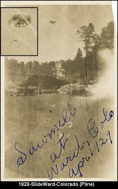 Saucer Shaped UFO Vintage Photo - 1929 Colorado