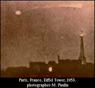 UFO Orb Fire in the Sky Spaceship Contact Consciousness Being - Paris, France 1953