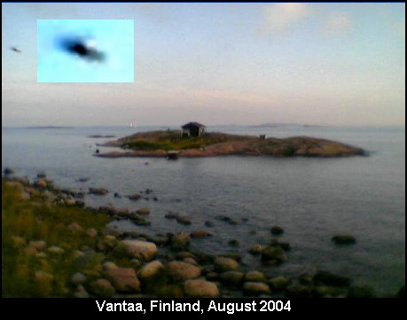 Silver UFO Consciousness Being Alien Spacecraft or Black Project Top Secret Stealth Technology - Vantaa, Finland, August 2004