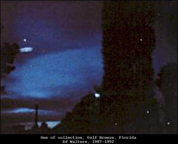 UFO lights in sky - Gulf Breeze, FL 1992