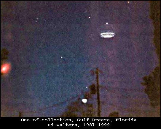 Strange Lightcraft Spaceship Illuminated by High Energy Frequency Photon Emission - Gulf Breeze, Florida