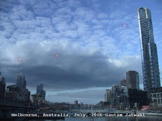 Multiple UFOs spotted in Melbourne, Australia, July 2006