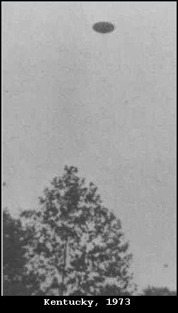 Silver Flying Saucer Shaped UFO - Top Secret Project SNOWBIRD - Kentucky, 1973