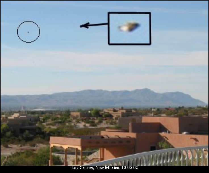 Saucer Shaped UFO over Las Cruces, New Mexico, 10/05/2002