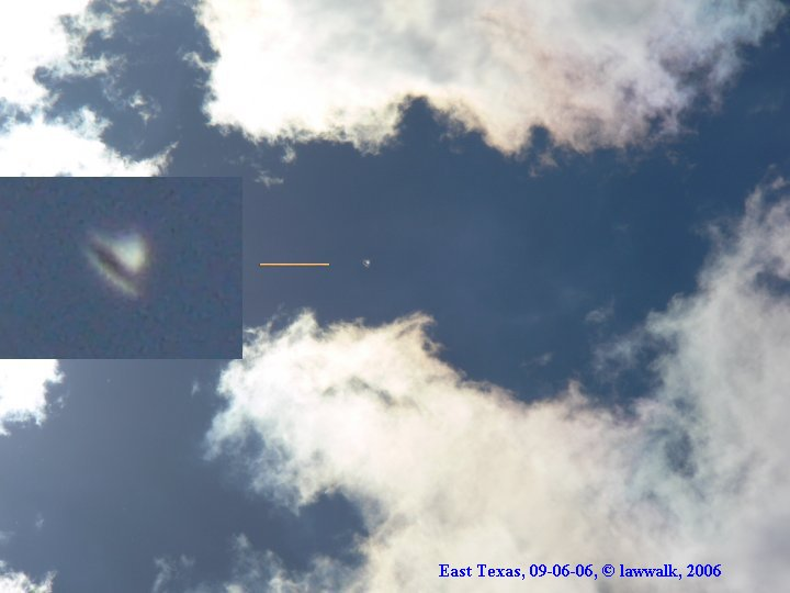 Silver Disc Orb UFO Bell Shaped - East Texas, 09/06/2006