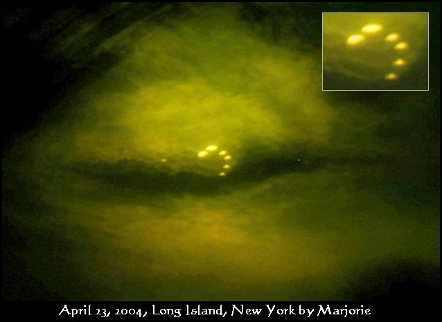 Ring of Fire, Fire in the Sky, Ring of Lights UFO over Long Island, NY - April 23, 2004