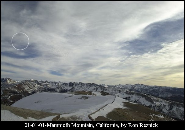 Silver Orb UFO - Mammoth Mountain, California 01/01/2001