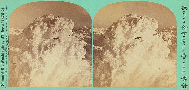 Cigar Shaped UFO near Mount Washington, 1870