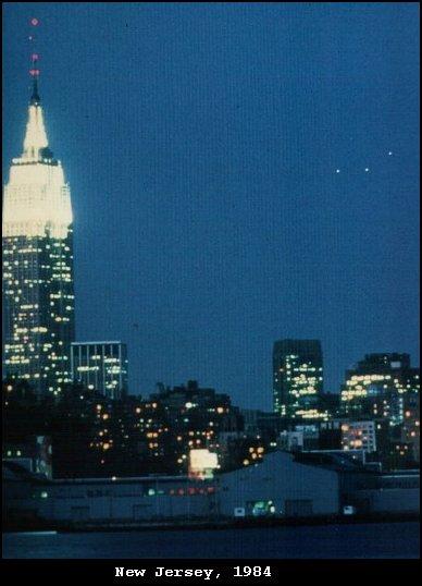 UFO Triangle or 3 UFO lights - TR-3B UCAF Stealth UAV - New Jersey, 1984