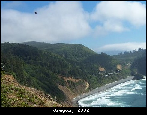 UFO spotted by Oregon Coast 2002