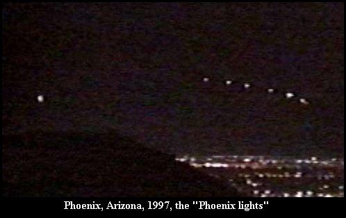 Massive UFO Phoenix Lights - Phoenix, Arizona 1997