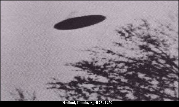 Saucer Shaped UFO - Redbud, Illinois, April 23rd, 1950