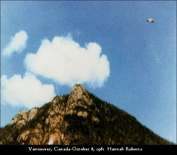 Saucer Shaped UFO - Vancouver, Canada - October 8th, 1981
