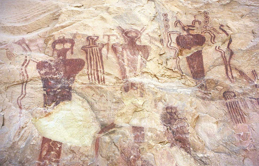 Ancient alien visitation - sego canyon, utah - aboriginal ufo cave art