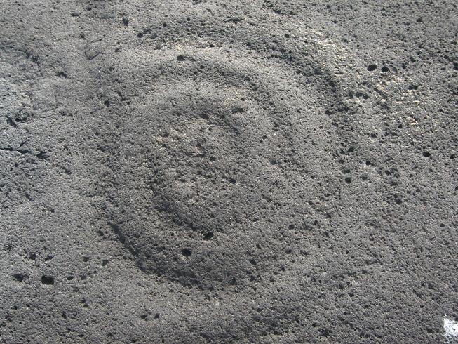 Alaska Petroglyph Ancient Spiral