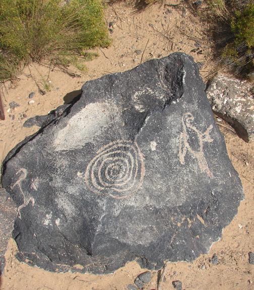 Albuquerque Ancient Spiral and Bird Symbol