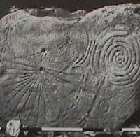 Kowth Irish pre histortic kerbstone 1 200x196 Ancient Spirals