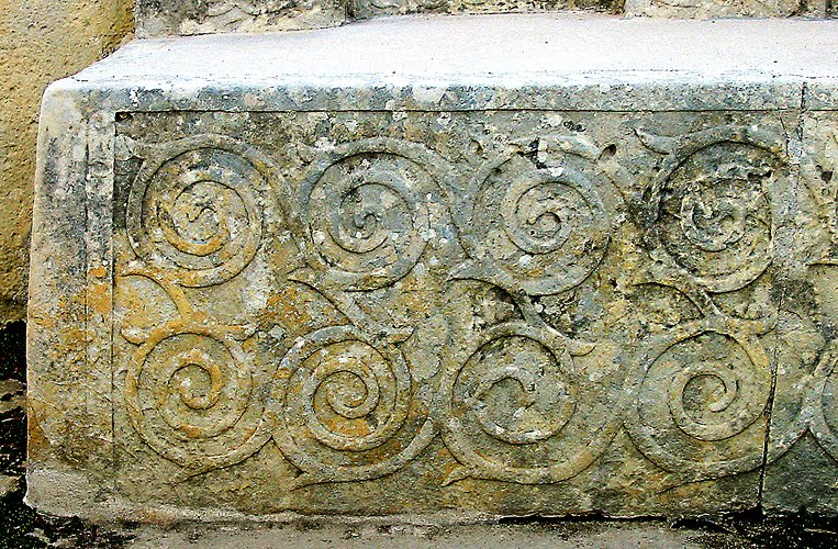 Malta spiral design temple of Tarxien