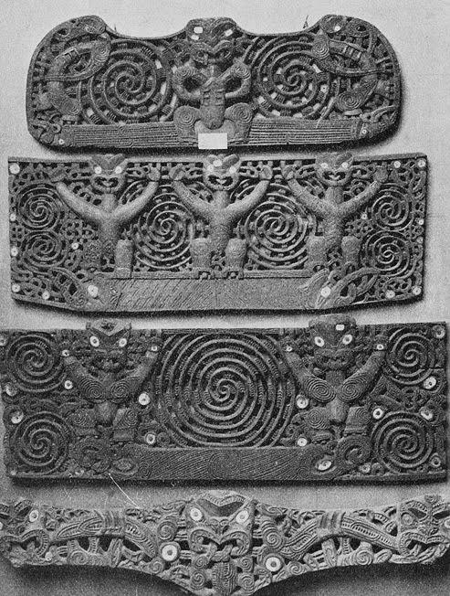 Maori door lintels 1901 Korensky
