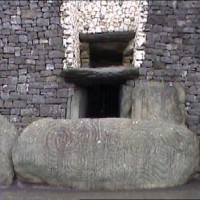 Newgrange at the Boyne Valley Light Box 200x200 Ancient Spirals