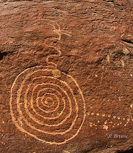Nine Mile Canyon, Utah Spiral Petroglyphs