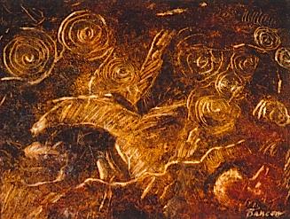 Petroglyph Horse and Spirals