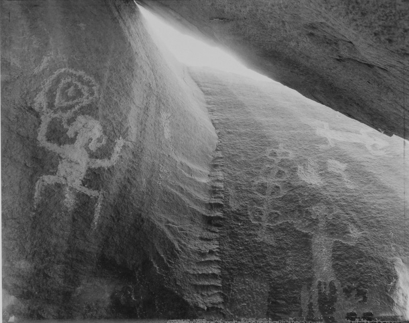Petroglyphs in the Cave of Life, Petrified Forest, Arizona