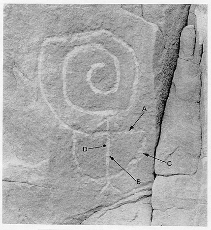 Pueblo Bonito Petroglyph On Fajada Butte Solar Aspects
