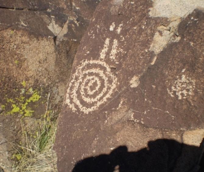 Petroglyph Spiral Rock