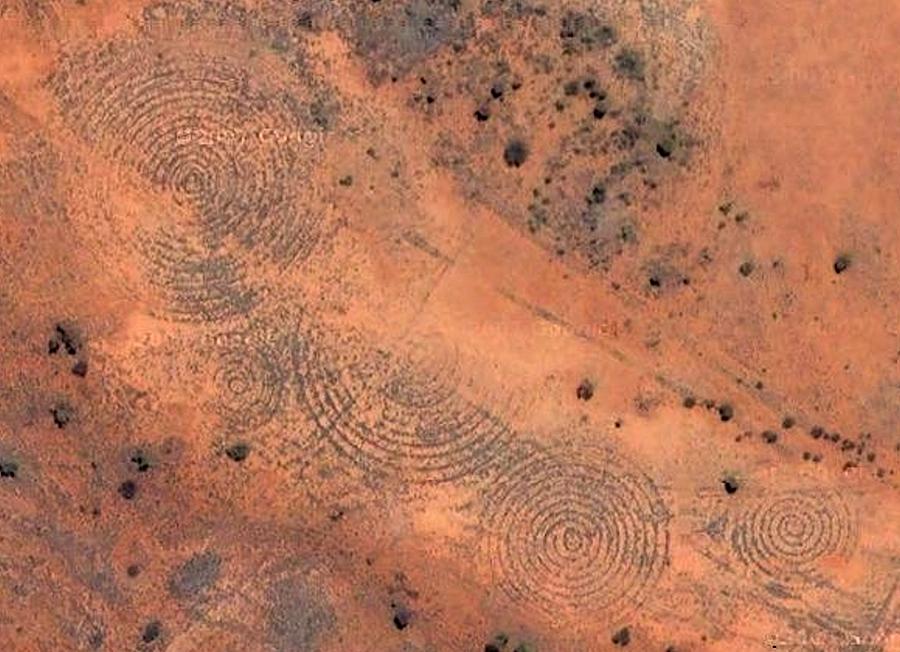 Spiral Pine Gap. Alice Springs, NWT, Australia