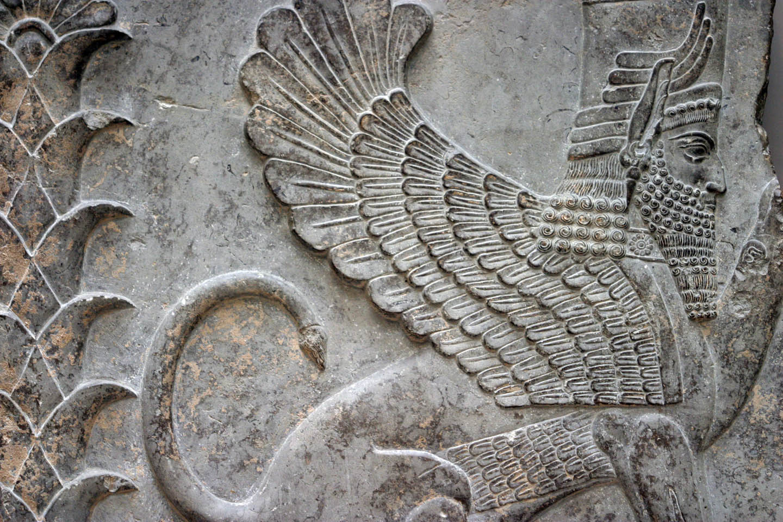Sumerian Hybrid Winged Sphinx Sacred Symbols