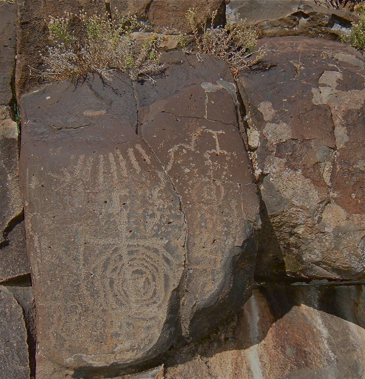 Taos Rock Art Spiral Petroglyphs 2