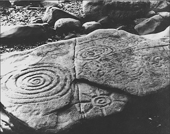 Ancient Spiral Petroglyph at The Flat Rocks of Helluland Alaska
