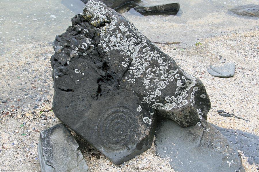 Wrangell Petroglyph Beach Spiral Rock