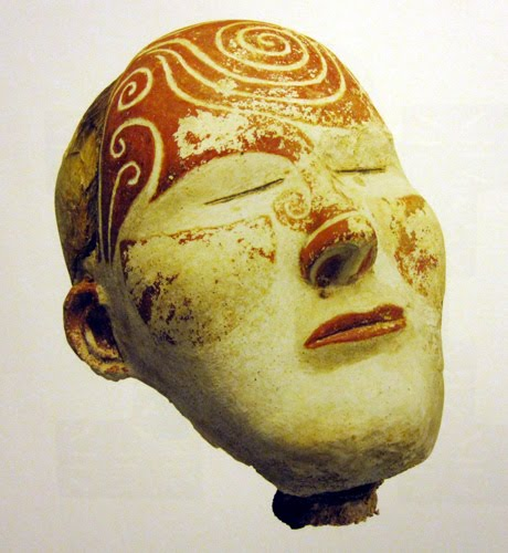 death mask Russia, gypsum with pigment 300 AD