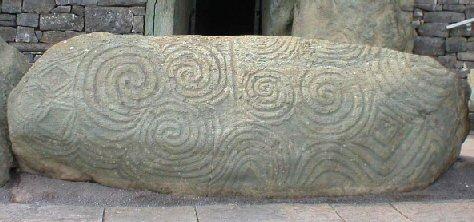 newgrange Irish kerb stone spiral