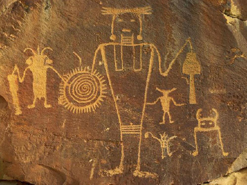 Ancient Spiral Petroglyph 3