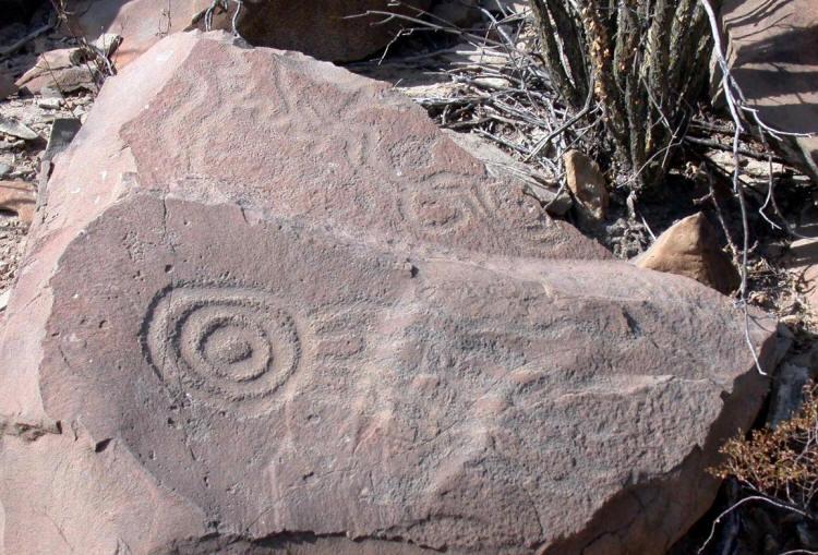 Ancient Spiral Petroglyphs 6