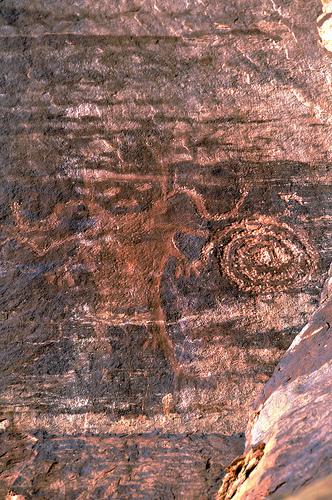 Dry Fork Spiral Petroglyph 5
