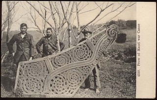 prow of amaori war canoec