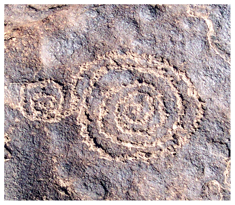 Ancient Spiral Petroglyph 8
