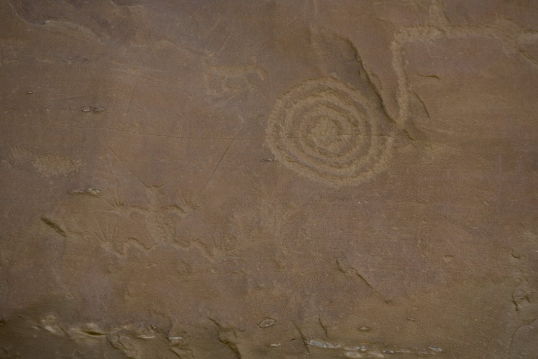 Ancient Spiral Petroglyph 4