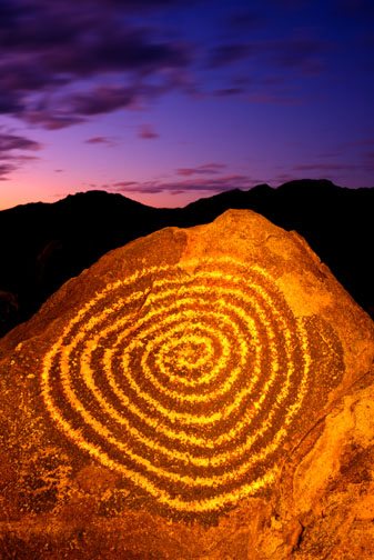 Spiral Petroglyph Rock