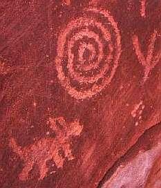 Ancient Spiral Petroglyph in Desert