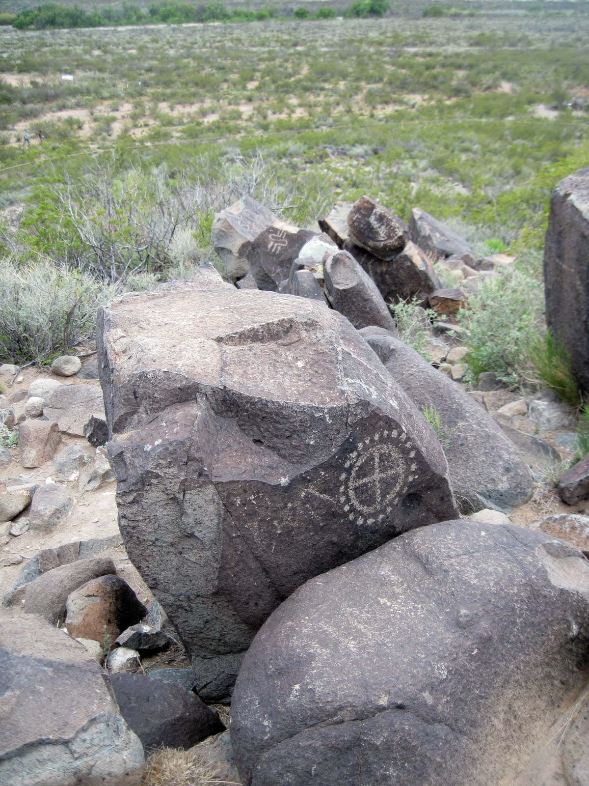 Ancient Spiral Petroglyphs at Three Rivers New Mexico 2