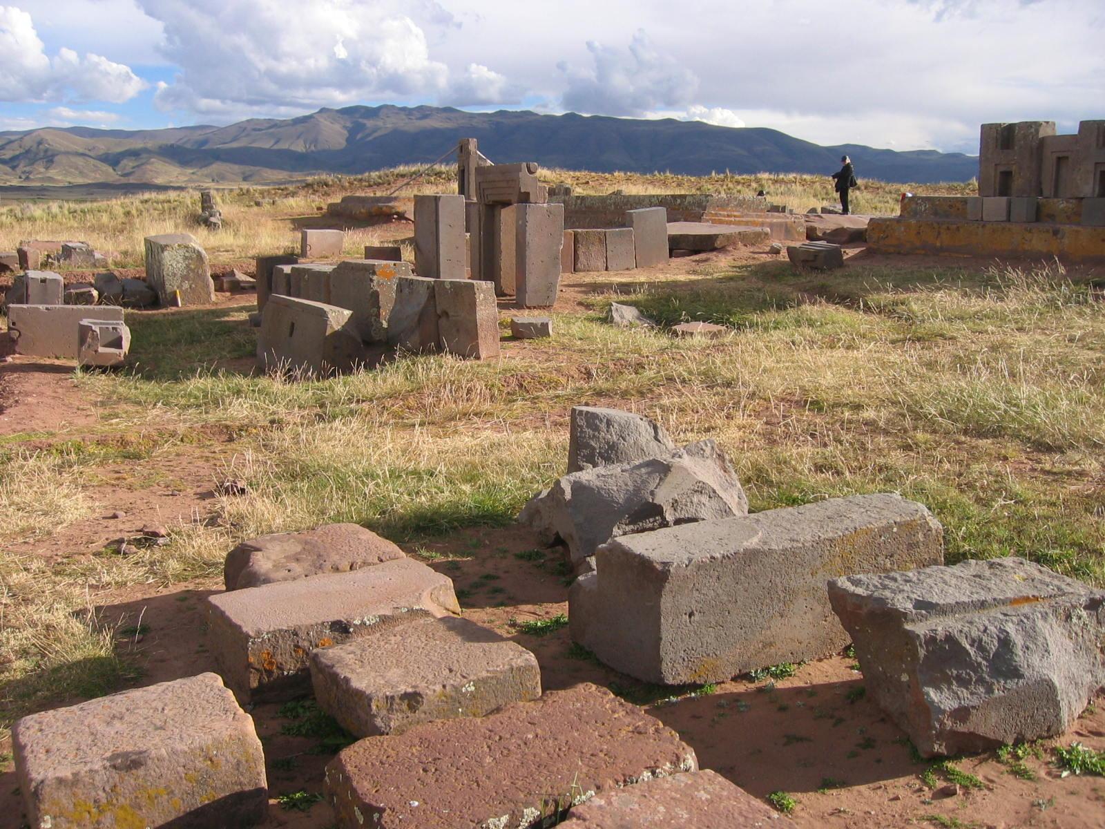 Ancient Devistation Andes Mountains Pumapunku